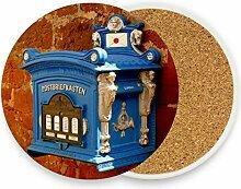 Montoj, blaue Briefkasten-Untersetzer für