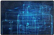 MONTOJ Blauer High-Tech Lichtmuster