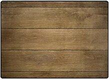 MONTOJ brauner Holzfliesen Muster Schuhe Schaber,