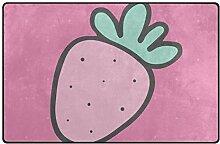 MONTOJ Endearing Strawberry Schuhkratzer Teppich