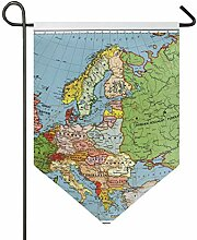 MONTOJ Europe Home Sweet Home Gartenflagge,