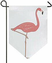 MONTOJ Flamingo Home Sweet Home Garten Flagge