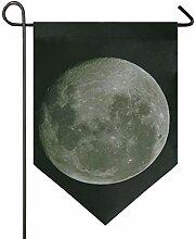 MONTOJ Full Moon Home Sweet Home Garten Flagge