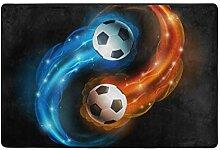 MONTOJ Fußmatte für Fußball, wetterfest, für