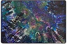 MONTOJ Fußmatte für Galaxie, Nacht, Wald,