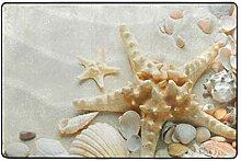 MONTOJ Fußmatte für Strand/Conch/Muschel,