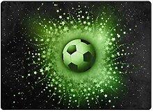 MONTOJ Fußmatte mit abstrakten Sternen, Fußball,