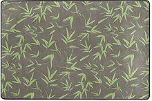 MONTOJ Fußmatte mit Bambus-Blätter-Muster,