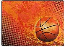 MONTOJ Fußmatte mit Basketball-Motiv, Gelb,