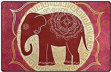 MONTOJ Fußmatte mit Elefanten-Muster, superweich,