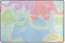 MONTOJ Fußmatte mit Elefanten-Muster, wetterfest,