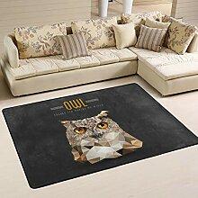 MONTOJ Fußmatte mit Eulen-Design, wetterfest,