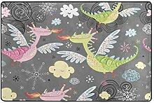 MONTOJ Fußmatte mit fliegenden Dinosauriern,
