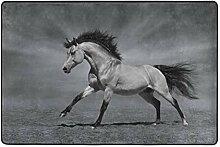MONTOJ Fußmatte mit glitzerndem Pferd,