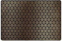 MONTOJ Fußmatte mit Goldfarbenen Dreiecken,