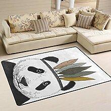 MONTOJ Fußmatte mit indischem Panda, wetterfest,