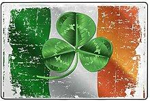MONTOJ Fußmatte mit irischer Flagge und