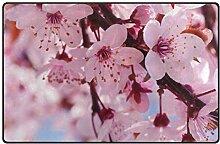 MONTOJ Fußmatte mit Kirschblüten-Blumen, sehr