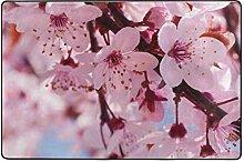 MONTOJ Fußmatte mit Kirschblüten-Motiv,
