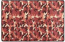 MONTOJ Fußmatte mit Leopardenmuster, Wetterfest,