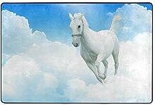 MONTOJ Fußmatte mit Pferdemotiv auf dem Himmel,