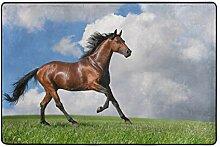 MONTOJ Fußmatte mit Pferdemotiv unter schönem