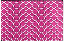 MONTOJ Fußmatte mit rosa Blumenmuster,