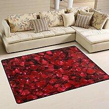 MONTOJ Fußmatte mit Rosenblüten-Motiv,