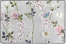 MONTOJ Fußmatte mit Schmetterlingen, wetterfest,