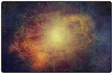 MONTOJ Fußmatte mit Sternen und Galaxie-Motiv,