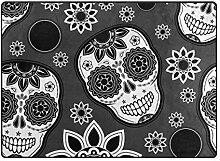 MONTOJ Fußmatte mit Totenkopf-Motiv, Schwarz,