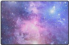 MONTOJ Fußmatte mit violetten Sternen für