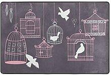 MONTOJ Fußmatte mit Vogelkäfig, wetterfest, für