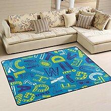 MONTOJ Fußmatten mit Schriftzug auf blauem