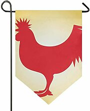 MONTOJ Hahn Home Sweet Home Garten-Flagge,