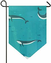 MONTOJ Haie Home Sweet Home Garten Flagge vertikal