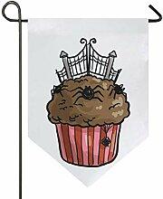 MONTOJ Halloween-Spinnen-Cupcake-Dekoration für