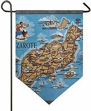MONTOJ Lanzarote Home Sweet Home Gartenflagge,