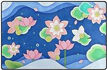 MONTOJ Lotus Schuhkratzer Teppich für Wohnzimmer,