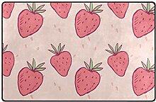 MONTOJ Lovable Strawberries Schuhkratzer Teppich