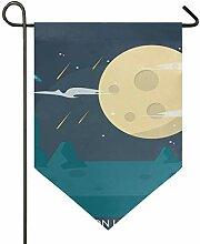 MONTOJ Mondlicht Home Sweet Home Garten Flagge