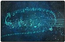MONTOJ Musiknoten fließender Schuhabstreifer