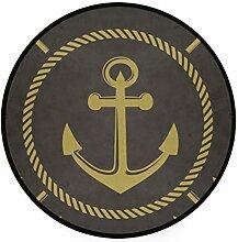 MONTOJ Navigations-Anker Teppich, rund,