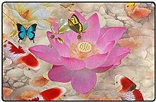 MONTOJ Red Lotus Karpfen-Schuhabstreifer Matte
