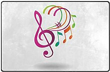 MONTOJ Schuhabstreifer mit Musiknoten-Motiv, sehr