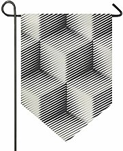 MONTOJ, Schwarze Linie, quadratisches Muster, Home