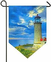 MONTOJ Seashore Leuchtturm Home Sweet Home Garten