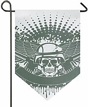 MONTOJ Skull Soldier Home Sweet Home Garten Flagge