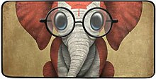 MONTOJ Teppich Baby Elefant mit Brille und