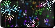 MONTOJ-Teppich, Bunte Schneeflocken, für Innen-
